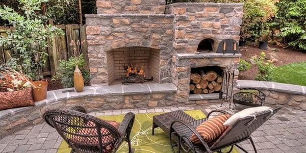 кухня на открытом воздухе, гриль, патио, бар, печь