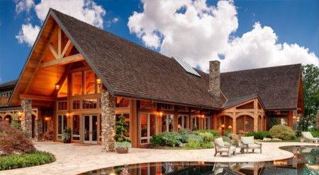 Пример дома из дерева.